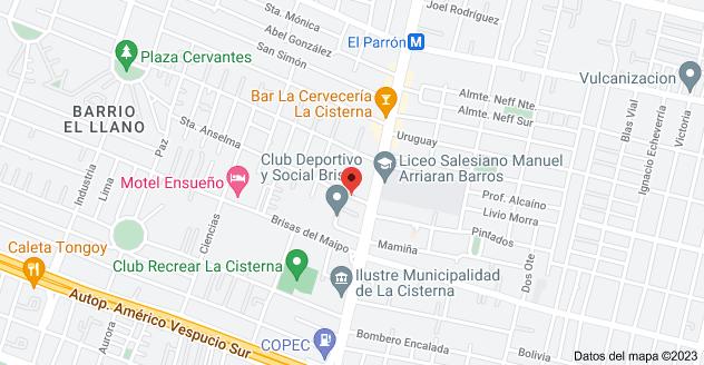 Mapa de Sta Anselma 070, La Cisterna, Región Metropolitana