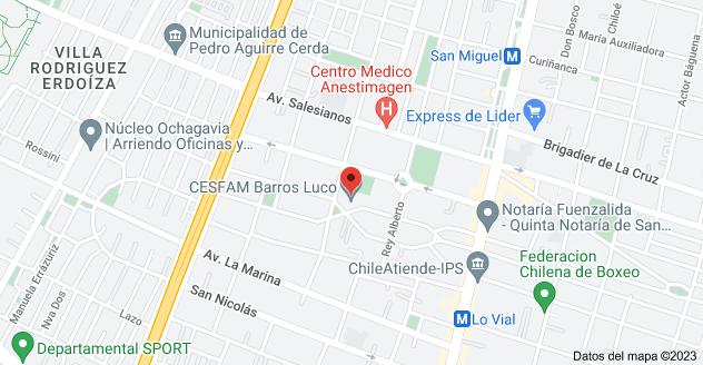 Mapa de Ángel Guarello 1319, San Miguel, Región Metropolitana