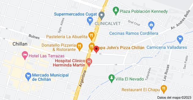 Mapa de Diego Portales 48, Chillan, Chillán, Región del Bío Bío