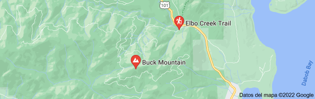 Mapa de Buck Mountain area near Quilcene